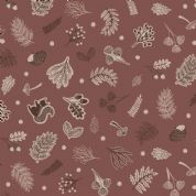 Lewis & Irene - Under The Oak Tree - 6896 - Scattered Autumn Foliage, Brown - A394.3 - Cotton Fabric